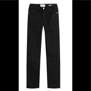 Frame Denim Black Straight Leg Jeans
